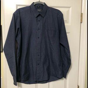 Versace V2 Classic Navy Designer button shirt XL